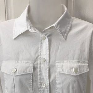 Women's MICHAEL KORS White Button Shirt Sz 6